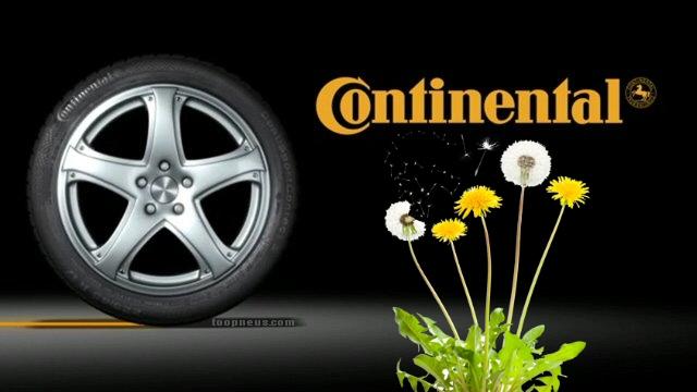 Un pneu Continental au pissenlit - Recyclage Pneu