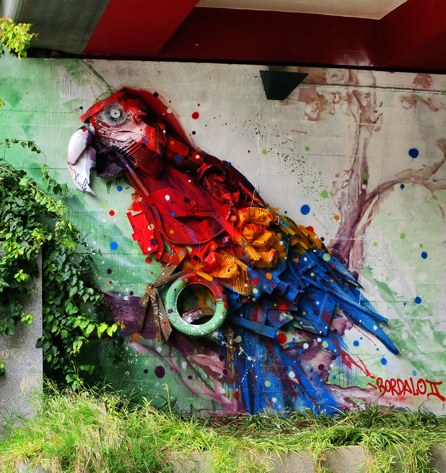 Pneus recyclés Bordalo II