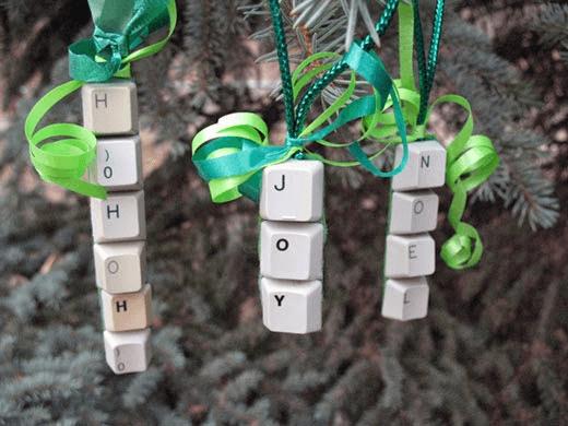 Clavier recyclage Noël