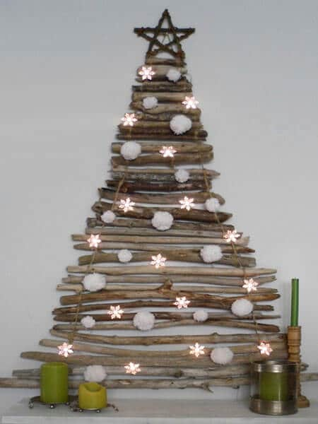 Sapin recyclage branches