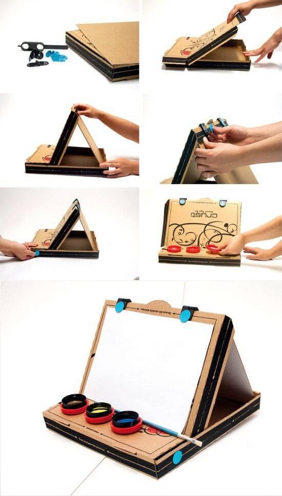 récupération boîte pizza