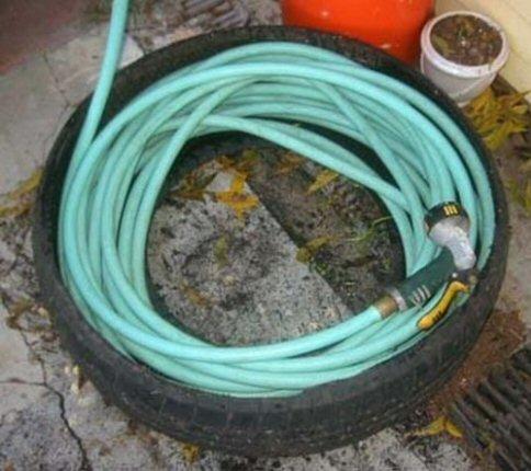 pneu rangement jardin