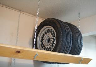 étagère stocker pneus été