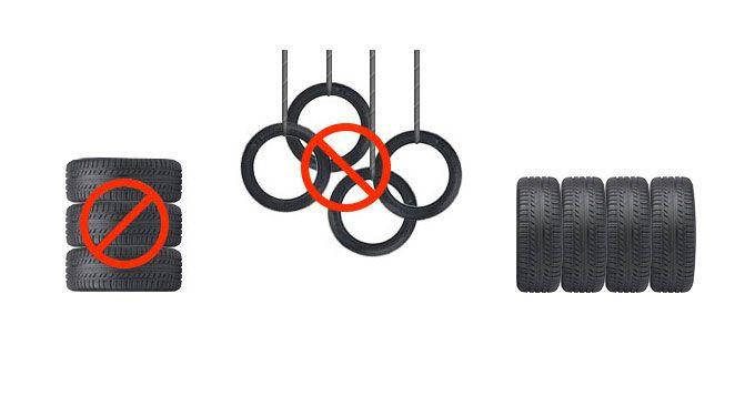 Stocker les pneus été