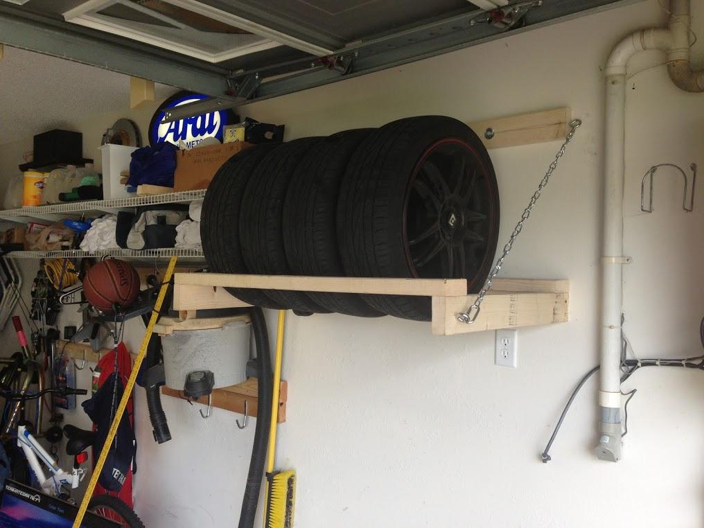 diy étagère pneus
