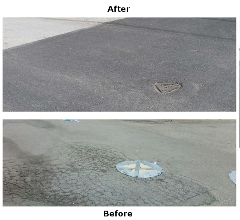 initiative recyclage routes pneus