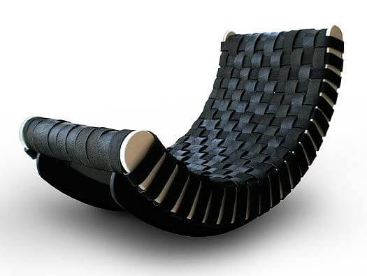chaise berçante pneus velo