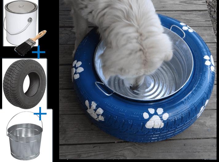 idée recyclage pneu chien