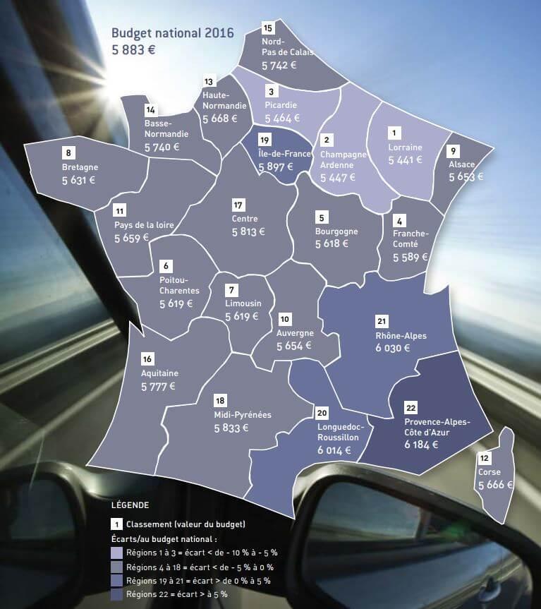 Budget Automobile Régions