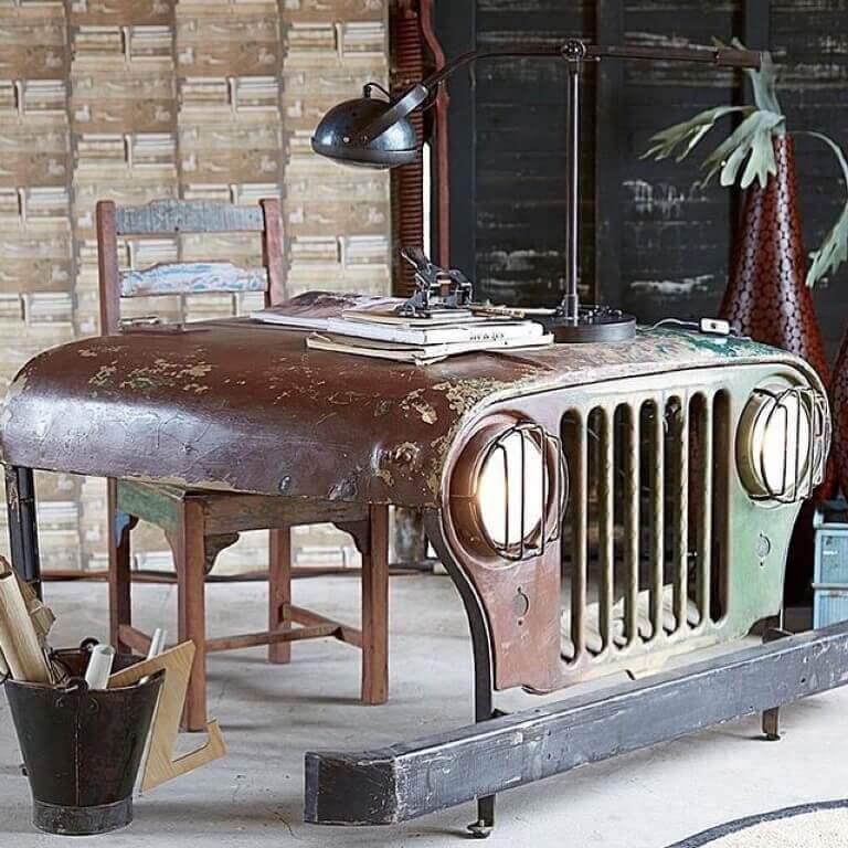 Calandre Jeep recyclée