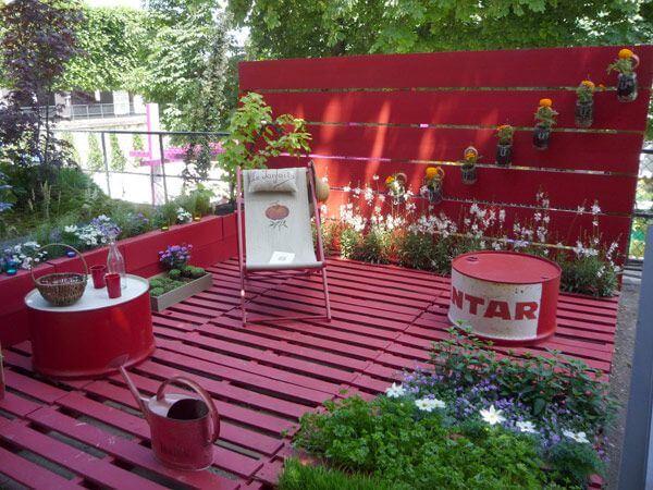 profiter du jardin sur la terrasse DIY