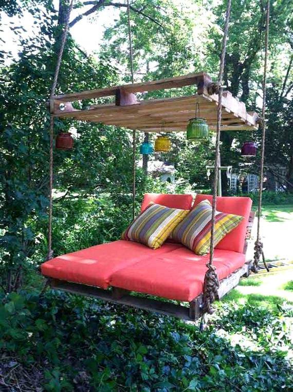 idée recyclage lit jardin