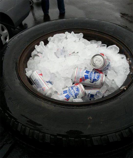 glacière pneu