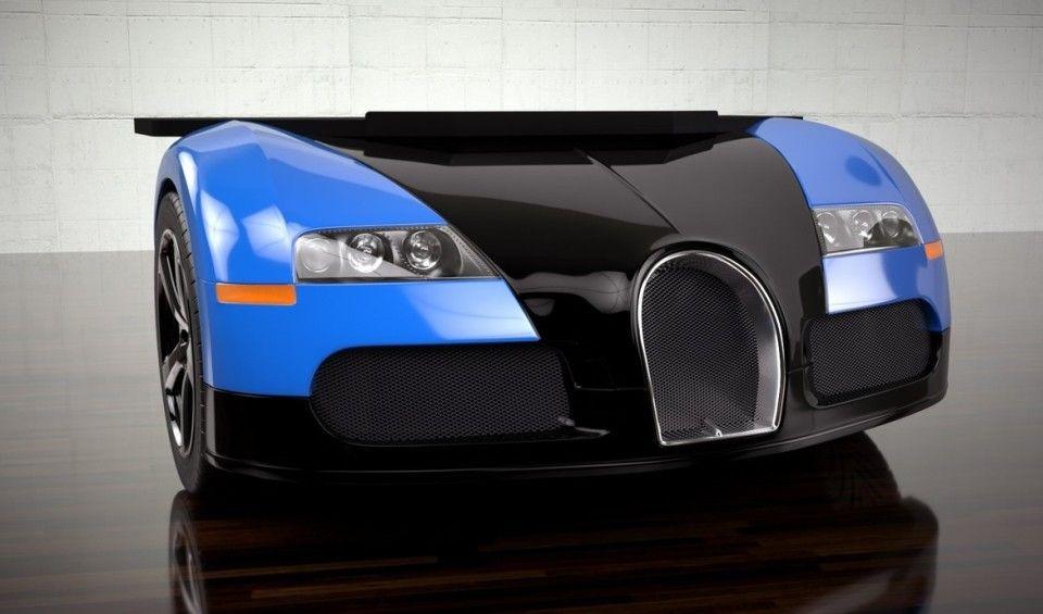 Bugatti Supercar convertie en bureau