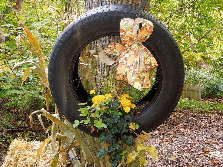 couronne pneu automne